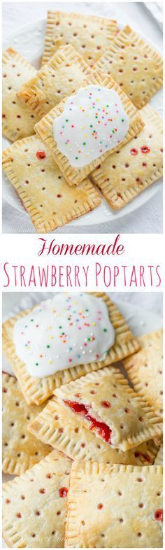 Healthy Snacks For Kids Homemade Strawberry Poptarts - Homemade hand pies - a flaky pastry filled with homemade strawberry jam Strawberry Pop Tart, Homemade Strawberry Jam, Strawberry Recipes, Homemade Pop Tarts, Strawberry Hand Pies, Strawberry Breakfast, Strawberry Bread, Snacks Homemade, Homemade Cake Recipes