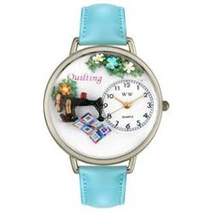 Quilting Baby Blue Leather And Silvertone Watch #U0450012 - http://www.artistic-watches.com/2013/02/17/quilting-baby-blue-leather-and-silvertone-watch-u0450012/