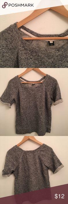 Selling this J. Crew Grey Twill Cotton Blend Top Sz. S on Poshmark! My username is: thegarbmovement. #shopmycloset #poshmark #fashion #shopping #style #forsale #J. Crew #Sweaters
