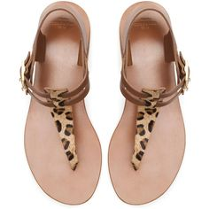 Zara Thong Sandal With Buckle ($50) ❤ liked on Polyvore