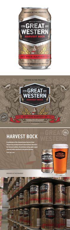 Harvest Bock Beer on Behance