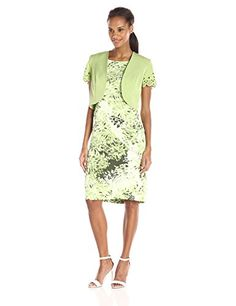 Maya Brooke Womens Sleeveless Dress and ShortSleeve Jacket Set Sage 14 * Find out more about the great product at the image link.