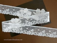 5 7/8 Yards  Wide Cotton Heirloom Lace  Delicate by CreativeThread, $30.25