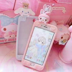 Get these adorable sanrio character phone cases at Kawaii Babe Kawaii Phone Case, Cute Phone Cases, Coque Iphone 5c, Tout Rose, Kawaii Bedroom, Rose Pastel, Kawaii Accessories, Phone Accessories, Baby Jogger
