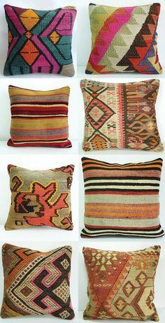 Ethnic print pillows