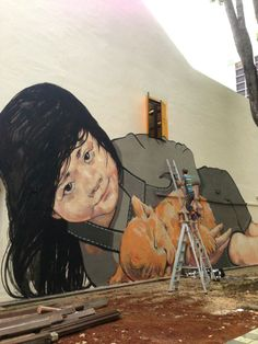 by Ernest Zacharevič, Lithuanian street artist and Illustrator - In Malaysia, 2014.