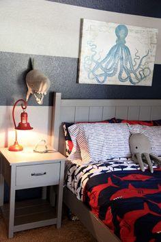 Shark Themed Boy S Room In 2018 Big Boy Rooms