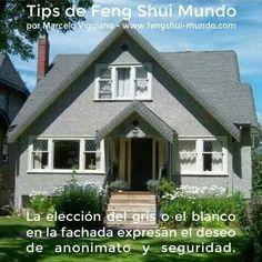 Feng shui el gris o blanco en el exterior