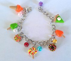 Check out this item in my Etsy shop https://www.etsy.com/listing/184697033/sweet-food-charm-clay-bracelet