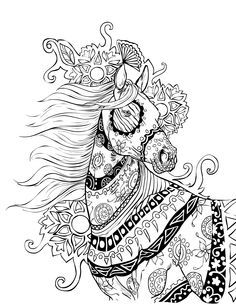 Horse coloring page | Selah Works