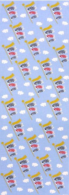 Japanese Tenugui cotton towel fabric. KOINOBORI : Carp streamer. Symbol of strength and courage. High quality tenugui fabrics made of soft 100% cotton cloth and hand dyed by Japanese master dyers. [ H o w T o U s e ] * towel * washcloth * dishcloth * headband / bandanna * scarf *