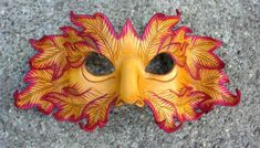 Autumn Green Man Leather Mask  by *merimask