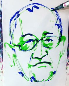 "torao fujimoto on Instagram: ""#kuzeteruhiko #久世光彦 #director #演出家 #novelist #小説家 #時間ですよ #寺内貫太郎一家 #ムー #19350419 #birthday #誕生日 #1minut #1分 #1mindraw  #一分描画 #portrait #似顔絵…"" Instagram"