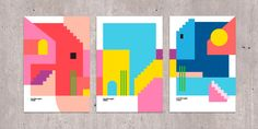 Mexico inspired poster series explodes with a rainbow of colours | Creative Boom