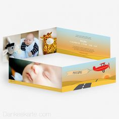 Babykarte Flugzeug 21 x 10 cm - Dankeskarte.com Banner, Inspiration, Thanks Card, Plane, Birth, Picture Banner, Biblical Inspiration, Banners, Inhalation