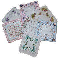 Lot of vintage Floral Flower Hankies Cotton Handkerchief  #vintage #ebay
