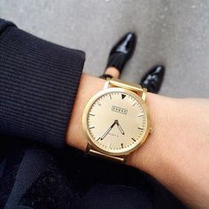 Shore Projects #watch #gold #simple #girls