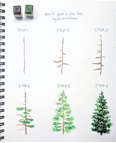 """"""" """" ✨ // ✨ – Julie – Wholepics Daily Pin Store The post """" """" ✨ // ✨ – Julie appeared first on Woman Casual - Drawing Ideas Watercolour Tutorials, Watercolor Techniques, Art Techniques, Painting Tips, Painting & Drawing, Watercolor Trees, How To Watercolor, Easy Watercolor Paintings, Watercolor Beginner"""