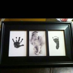 Newborn hand and footprint - Babygeschenk für Mädchen - Baby Diy Foto Baby, Baby Memories, Baby Keepsake, Baby Art, Everything Baby, Newborn Pictures, Pictures For Babies, Newborn Pics, Baby Crafts