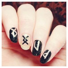* viking runes * nail art <3
