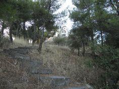 "The steps to the church of "" Agios Nektarios "" in Kanalia Volou."