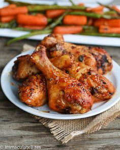 Baked Paprika Garlic Chicken Legs