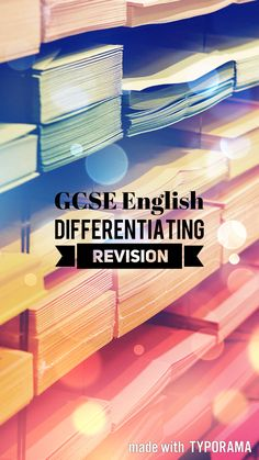 Ideas for differentiating revision!   || Ideas and inspiration for teaching GCSE-English || www.gcse-english.com ||