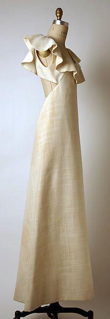 Evening dress Designer: Madame Grès (Alix Barton) (French, Paris 1903–1993 Var region) Date: 1965 Culture: French Medium: cotton