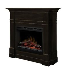 Amazon.com - Dimplex DFP26-5337ES Colton 49-Inch Tall by 47.7-Inch Wide Electric Fireplace Mantel, Espresso - Space Heaters