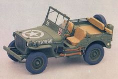 This vehicle paper model is aWWIIWillys MB Jeep, a four-wheel drive utility vehicle, the papercraft created by Propagteam, and the scale is in 1:35. Ther
