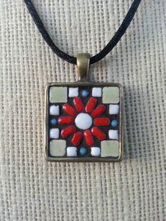 197 best mosaic pendants images on pinterest mosaic mosaic handmade mosaic pendant necklace aloadofball Image collections