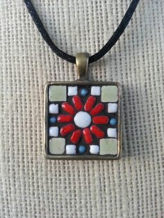 Mini mosaic pendant mini mosaic pinterest mosaicos y minis aloadofball Choice Image