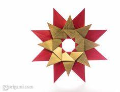 Origami tico star ---