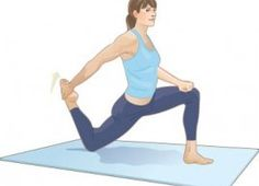 Lunge quad stretch: Do this stretch to keep your lower body limber #BestStretch #stretch #fitness http://www.besthealthmag.ca/get-healthy/fitness/lunge-quad-stretch