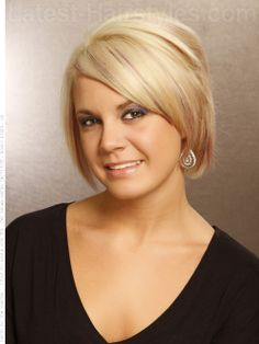 Blonde Bob-Ultra light blonde with lots of layers lends itself to simple styling.