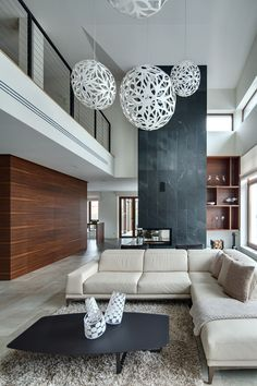 Entrance hallway in Elegant modern house in west Vancouver, Canada ...