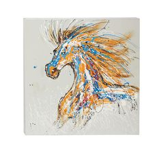 Found it at Wayfair - Cool and Colorful Painting Print on Wrapped Canvas