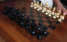 Very inexpensive and fun to do plus we now have our own custom chess table