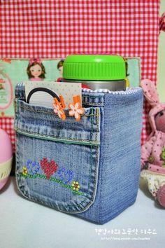 Denim Storage Bags ~ DIY Tutorial Ideas!