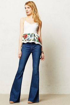 Can't wait to see how these fit! - J Brand Valentina High-Rise Flare Jeans #anthropologie