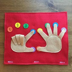 Finger Counting Page; Toddler Quiet Book, Busy Bag, Travel Book, Preschool Games, Educational Activi- Osorio Rocio Finger Counting Page; Infant Activities, Educational Activities, Book Activities, Quiet Toddler Activities, Children Activities, Toddler Activity Bags, Diy Quiet Books, Felt Books, Baby Quiet Book