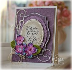 Pretty In Purple by AndreaEwen - Cards and Paper Crafts at Splitcoaststampers