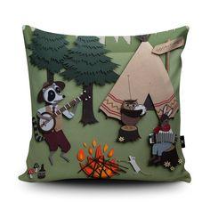 Nursery Cushion Kids Cushion Nursery Pillow Woodland by Wraptious