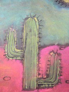 Desert Landscapes chalk pastel