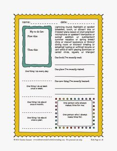 Adventures in Guided Journaling: Printable journal pages for kids