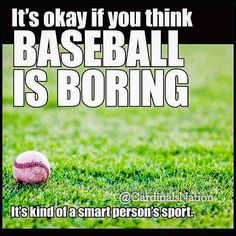 For all my friends who think baseball is boring...