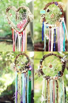I like these better than the typical native american style dream  catchers they look like fairies made them...