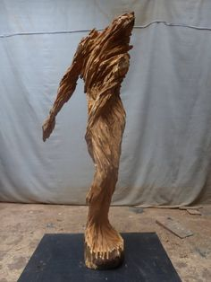 Ermite - Sculpture. Xavier Dambrine, 2014 #art #sculpture #wood #artwork #artist #achetezdelart