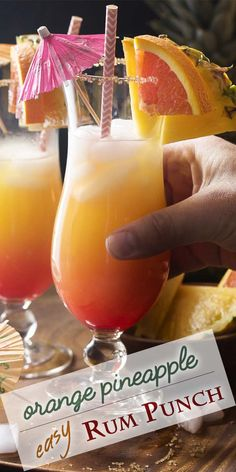 The tropical flavors of pineapple orange and coconut and the rosy sunset colo craft cocktails cocktails coconut colo craft flavors orange pineapple rosy sunset tropical erdbeer butterkeks dessert Craft Cocktails, Beach Cocktails, Summer Drinks, Cocktail Drinks, Fun Drinks, Alcoholic Drinks, Cocktail Ideas, Mixed Drinks, Rum Punch Recipes