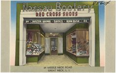Nassau Bootery. 64 Middle Neck Road, Great Neck, L. I. by Boston Public Library, via Flickr